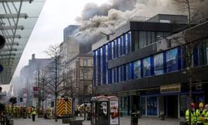 The scene in Glasgow city centre.