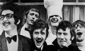 Eric Idle, Graham Chapman, Michael Palin, John Cleese, Terry Jones and Terry Gilliam on Monty Python, 1975.
