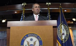 John Boehner speaks during a press conference in the US Capitol on 25 September 2015.