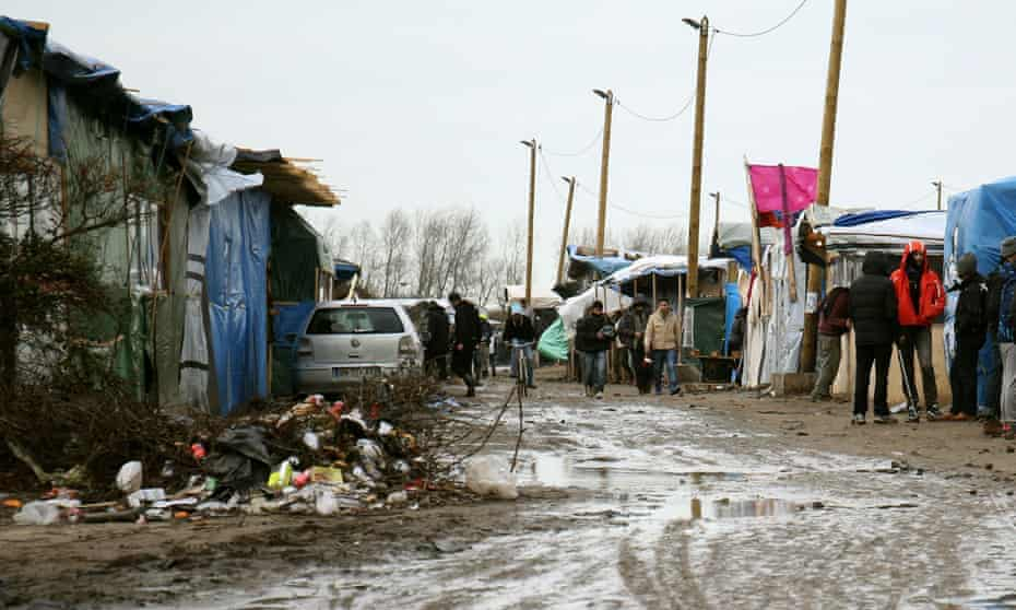 A general view of the Jungle refugee camp in Calais, France