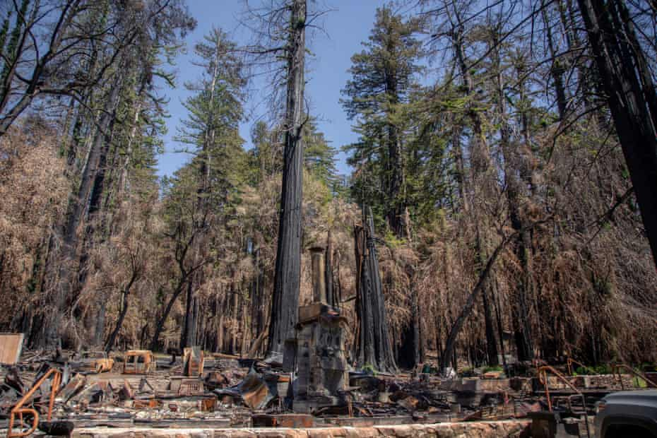 The headquarters at Big Basin Redwoods state park was destroyed by the CSU Complex fire last August.