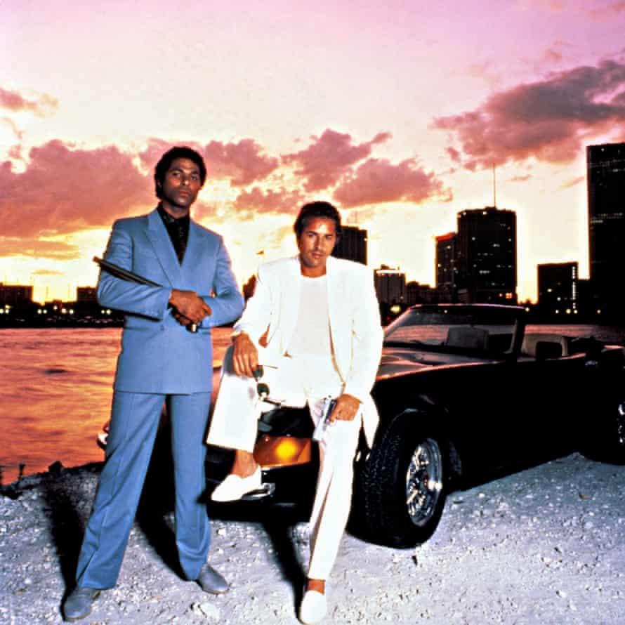Philip Michael Thomas, left, and Don Johnson in TV show Miami Vice.