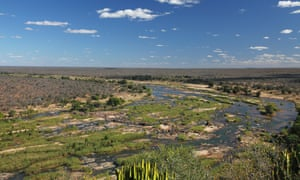 Olifants River seen from Olifants camp, Kruger national park, South Africa.