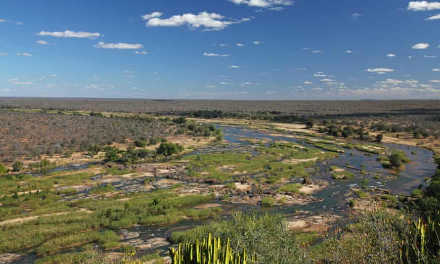 Olifants River seen from Olifants camp, Kruger national park, South Africa.