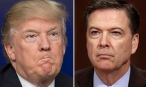 Donald Trump and the former  FBI director James Comey