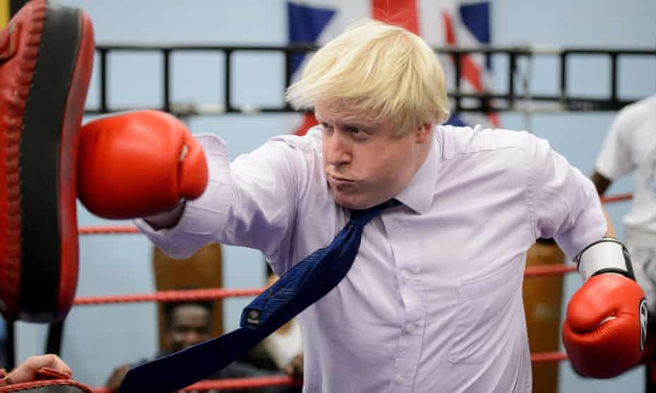 Boris Johnson at the Fight for Peace academy in Woolwich, London, October 2014