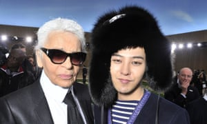 Karl Lagerfeld with G Dragon.