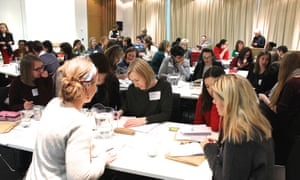 Teachers sharing resources and ideas at at the Guardian Education Centre Reading for pleasure conference 5 March 2018.