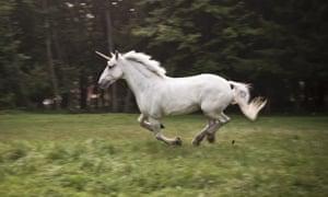 A galloping unicorn