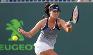 Laura Robson during her defeat to Kirsten Flipkens at the Miami Open last month.