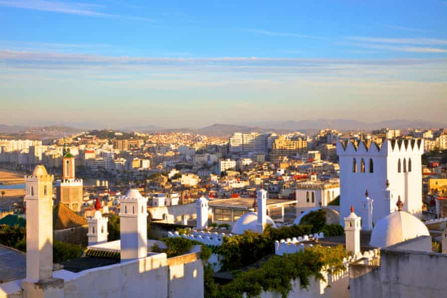 a view over the Kasbah to Tangier, Morocco.