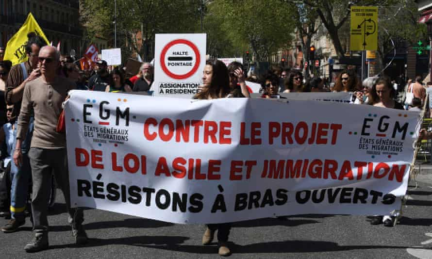 Protesters in Toulouse