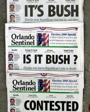 Headlines on 8 November 2000.
