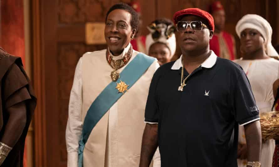 Arsenio Hall and Tracy Morgan in Coming 2 America.