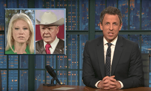 'Despite these reports, the White House seems to be telling Alabamans to vote for Moore anyway so they can pass tax cuts'...Seth Meyers