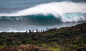 Surfer Breaks Leg Taking On Probably The Biggest Wave Ever