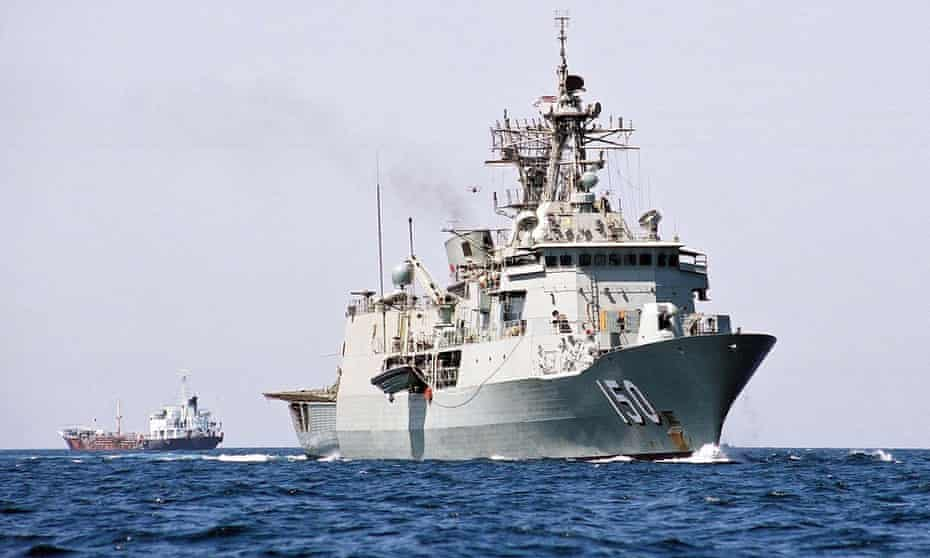 Defence sources say confrontations occurred between HMAS Anzac, pictured, and the Chinese military in the South China Sea.