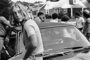 Tom on his Car, 1977