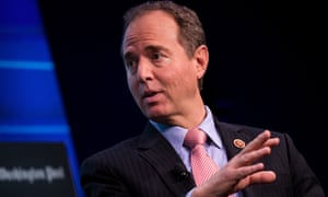 Adam Schiff speaks during a discussion in Washington earlier this month.