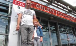 Marcin Raganowicz and his daughter, Maya