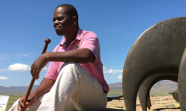 Dalton Ngobose, an Isandlwana battlefield guide, has had few clients. Photograph: Kevin Rushby/The Guardian