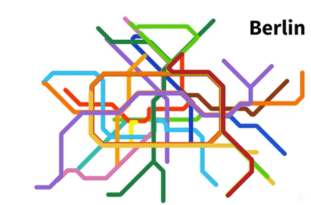 Twisted tracks: watch metro maps transform to real-life