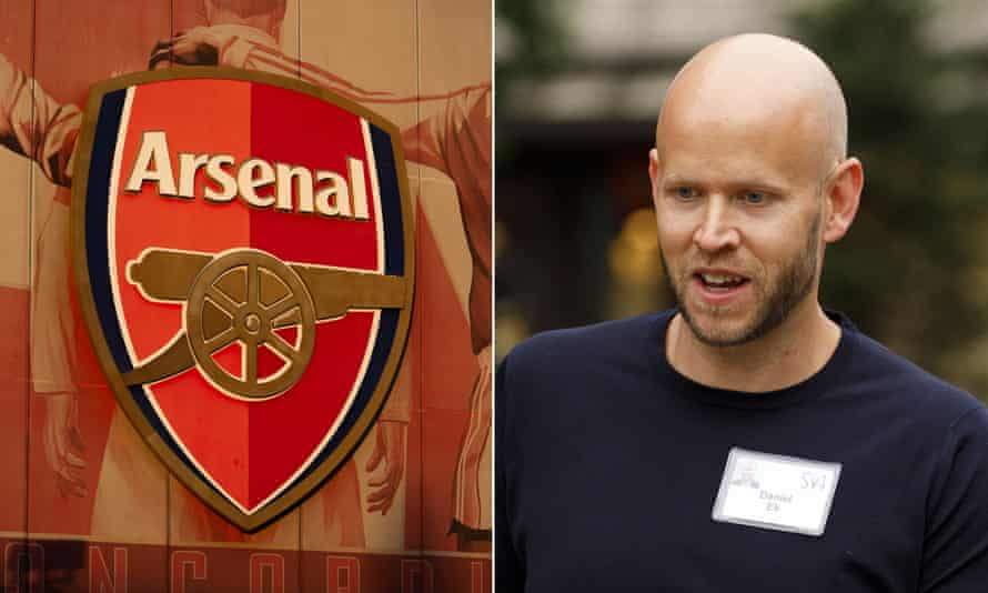 Daniel Ek, pictured in 2019, said he had been an Arsenal fan since he was eight.