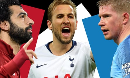 Liverpool's Mohamed Salah (left), Harry Kane of Tottenham and Manchester City's Kevin De Bruyne are likely to play decisive parts in the second half of the Premier League season.
