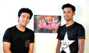 Vague Pixels' co-founders Mridul Bansal and Mridul Pancholi