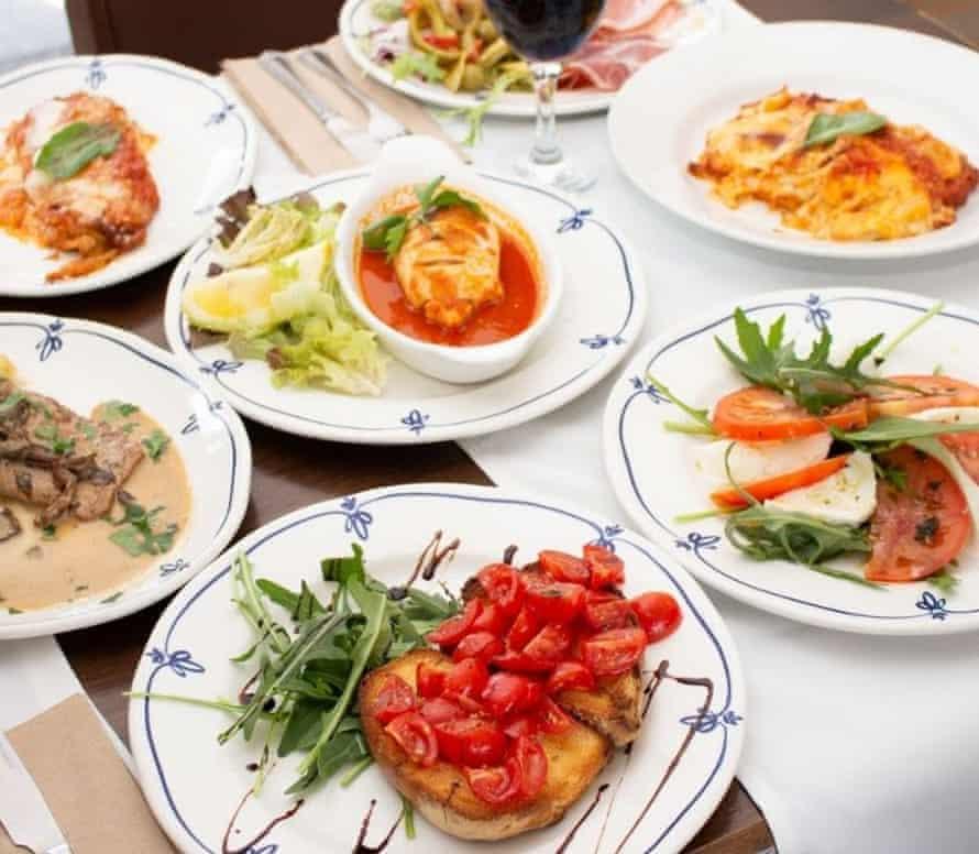 Italian specialities at La Pergola at the Wheatsheaf