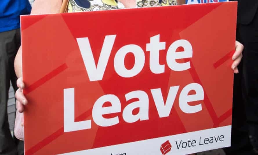 A Vote Leave placard