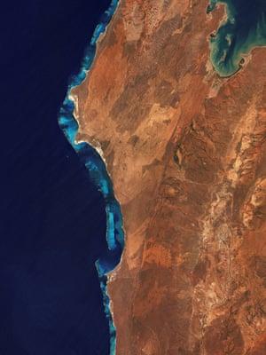 An aerial of Ningaloo Reef