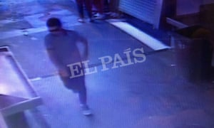 A still from CCTV footage that Spanish newspaper El País says shows Younes Abouyaaqoub, the suspected driver of the van used in the Barcelona attack.