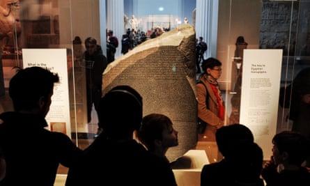 Rosetta Stone and                visitors