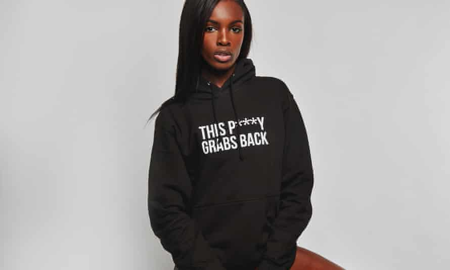 'With social media, we all have voices and opinions' …Leomie Anderson, modelling one of her hoodies