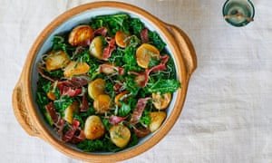 Baby potatoes Green kale, jamon and jerusalem artichokes New Year's Eve Nieves Barragán Mohacho OFM December 2018 Observer Food Monthly