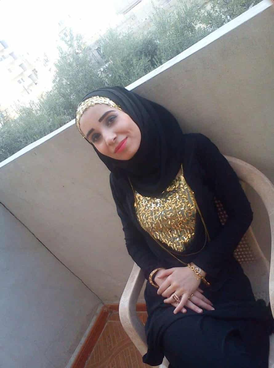 A photograph of Ruqia Hassan posted on Twitter