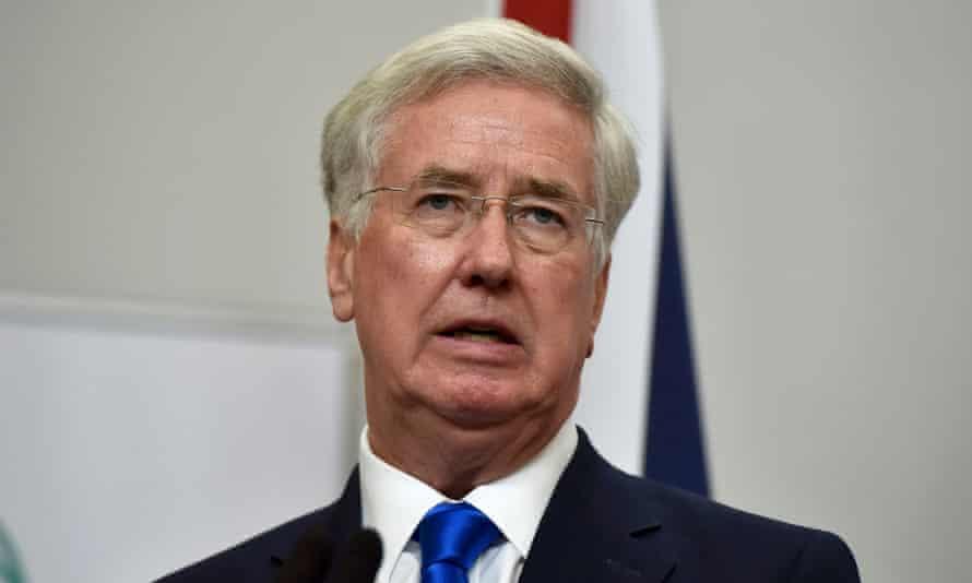Britain's Defence Secretary Michael Fallon