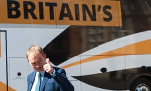 Tim Farron on a campaign stop in London.