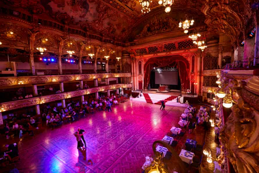 A tea dance at the Blackpool Tower Ballroom.