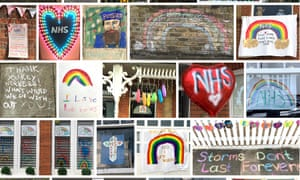 A selection of the rainbow displays on the street in Teddington, south west London.