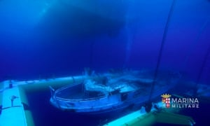 Another view of the shipwreck.