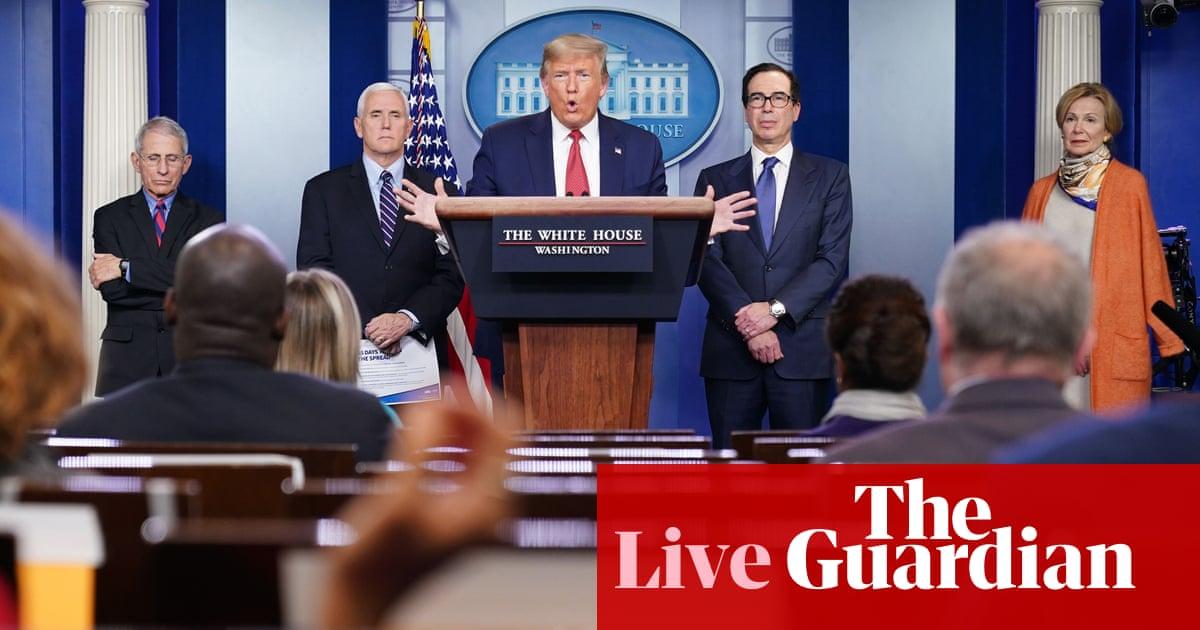 Trump praises Senate stimulus deal and attacks US media – as it happened