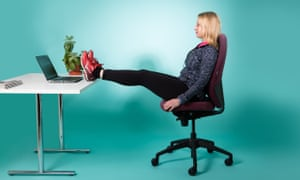 woman on office chair