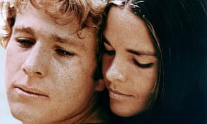 Ryan O'Neal and Ali McGraw in Love Story, the 1970 romantic drama that was director Arthur Hiller's biggest hit.