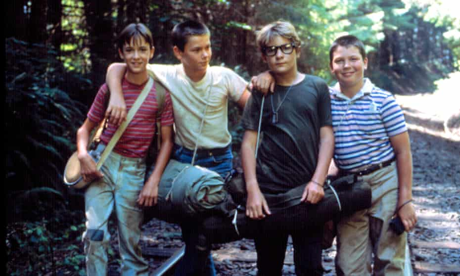 Wil Wheaton, River Phoenix, Corey Feldman and Jerry O'Connell in Stand By Me, released 35 years ago in August.