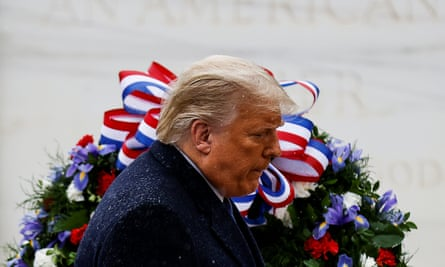 Donald Trump at Veterans Day observance at Arlington National Cemetery in Arlington, Virginia, 11 November 2020.