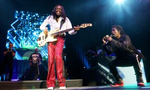 His flares could supply several families with Christmas decorations … Verdine White, left, of Earth Wind & Fire.