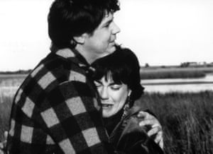 Mark Little and Linda Hartley as Joe and Kerry Mangel in 1991