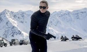 Daniel Craig as 007 in the latest James Bond film Spectre.